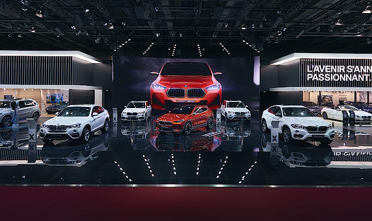 BMW Messestand Autosalon Paris 2016