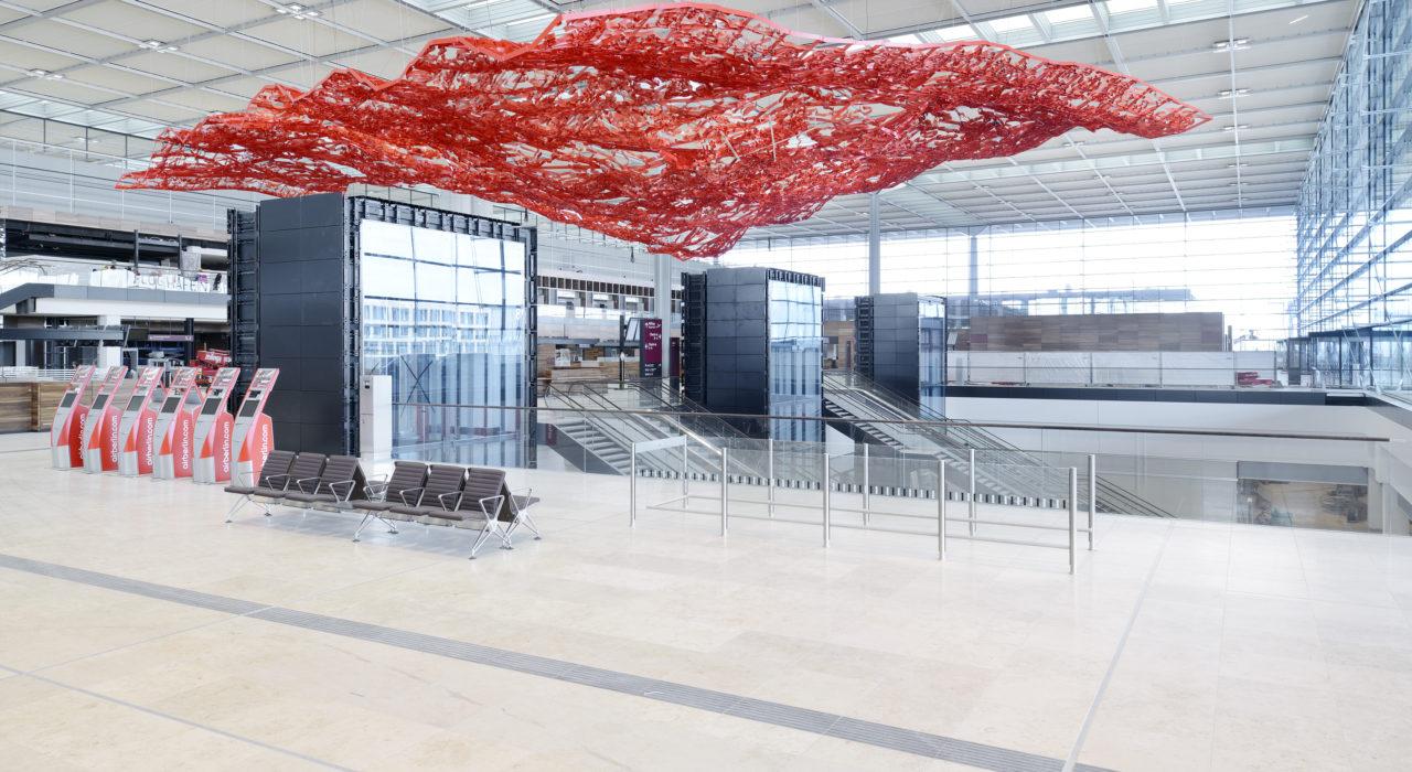 Magic Carpet Kunstinstallation Pae White Flughafen Berlin imagine structure Tragwerksplanung