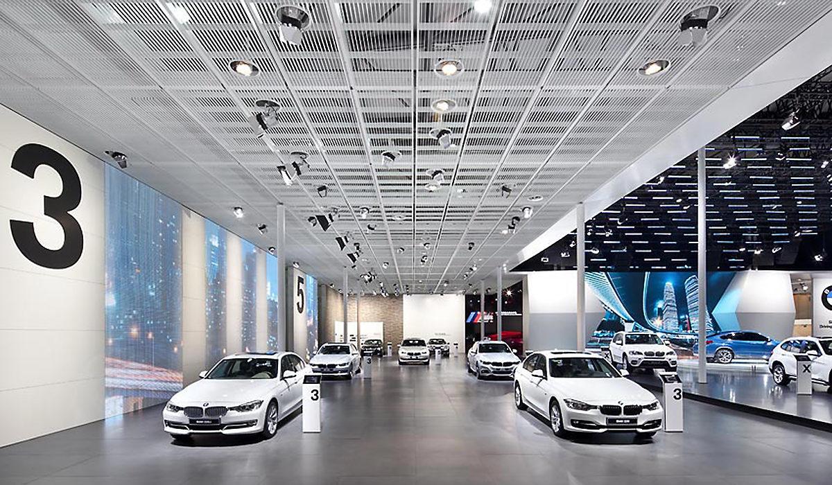 Messestand BMW Tragwerk Shanghai 2013