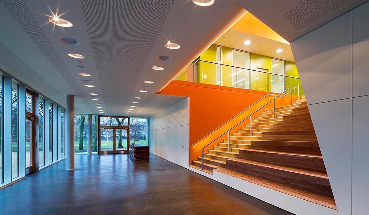 Sprach und Bewegungszentrum Hamburg SBZ Eingang imagine structure Tragwerksplanung