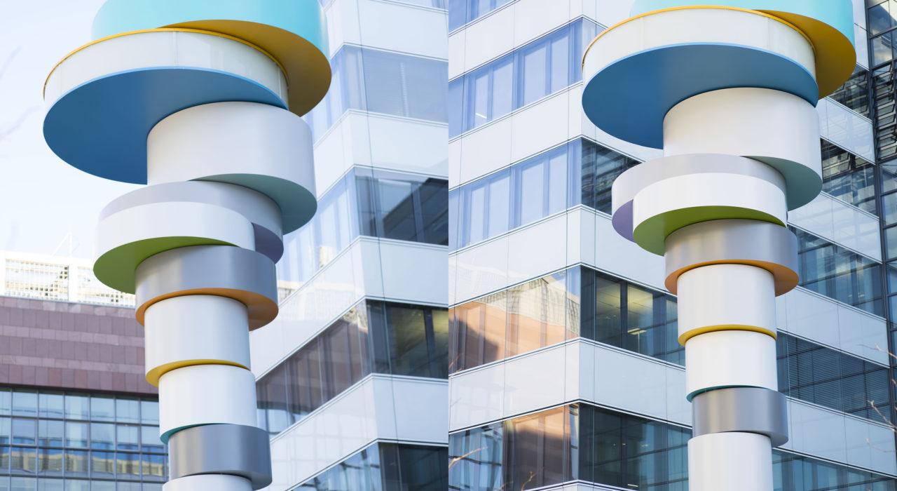 Turm Fraport Plastik Turmskulptur Tobias Rehberger imagine structure Tragwerksplanung