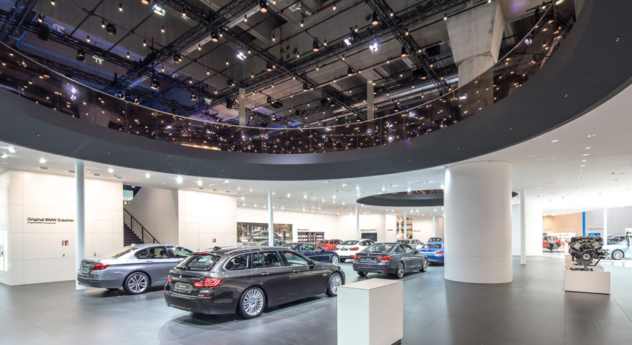 Messestand Tragwerk BMW IAA 2017 De3ckenöffnung
