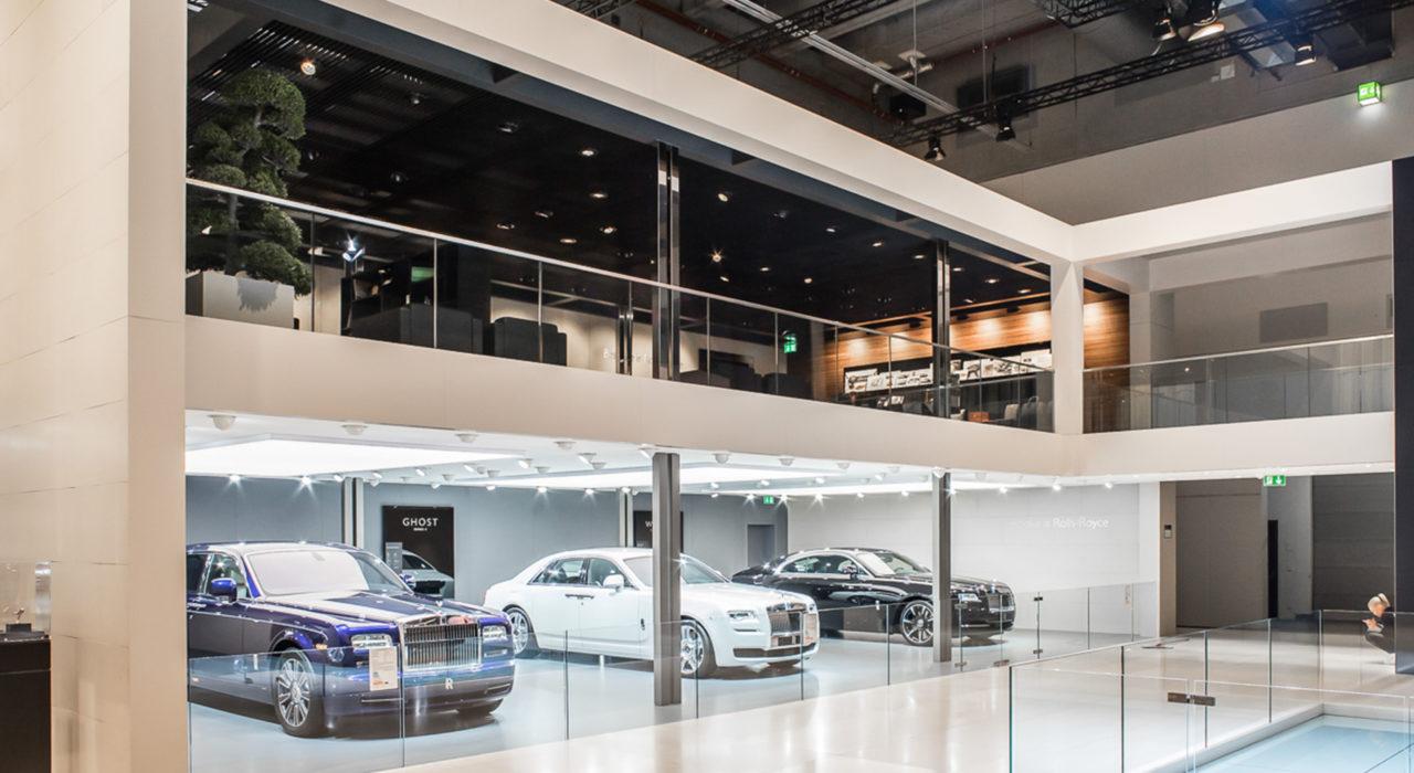 Messestand Tragwerk BMW IAA 2015 Rolls Royce