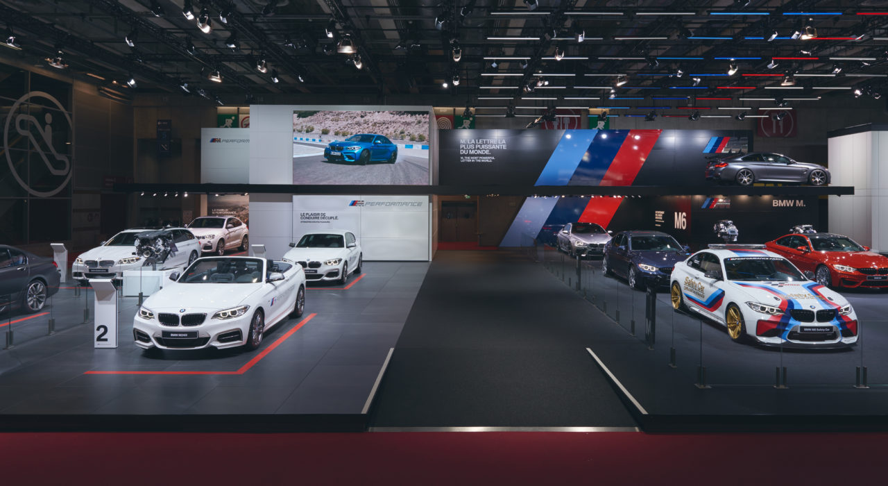 Messestand Tragwerk BMW Autosalon PAris 2016