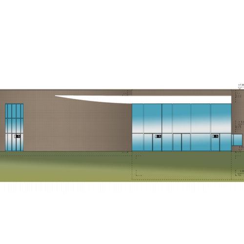 Neubau Pfarrzentrum Garath Seitenansicht