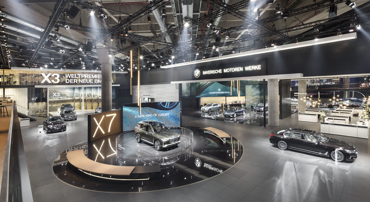 Messestand Tragwerk BMW IAA 2017
