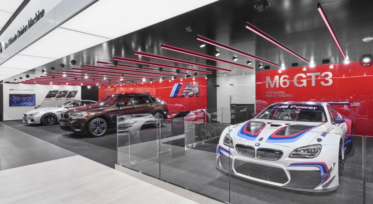 Messestand Tragwerk BMW Detroit Motor Show 2017