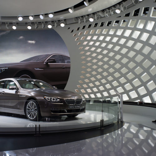 Messestand BMW Tragwerk genf 2012 imagine structure Tragwerksplanung