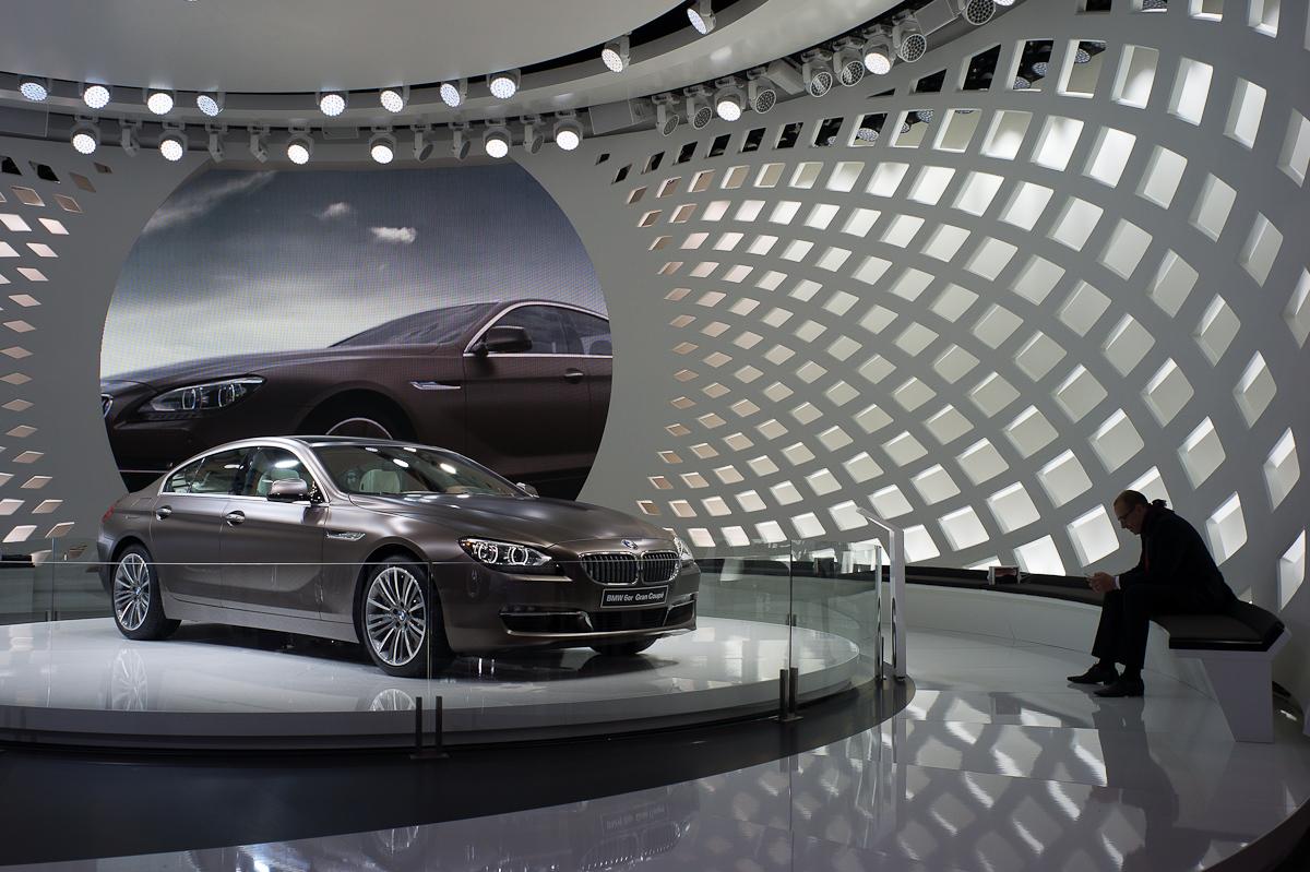 Messestand BMW Tragwerk genf 2012 imagine structure Tragwerksplanung