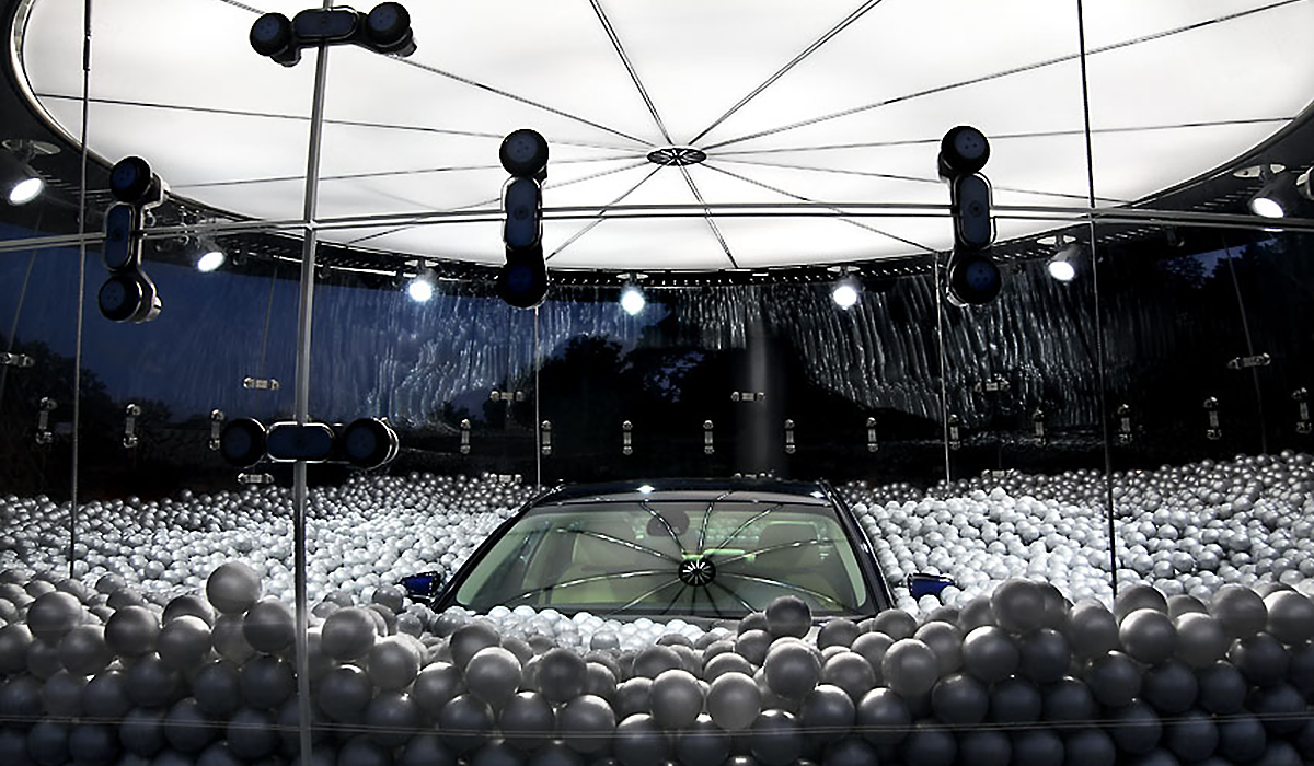 BMW Sanduhr Plexiglas sonderkonstruktion