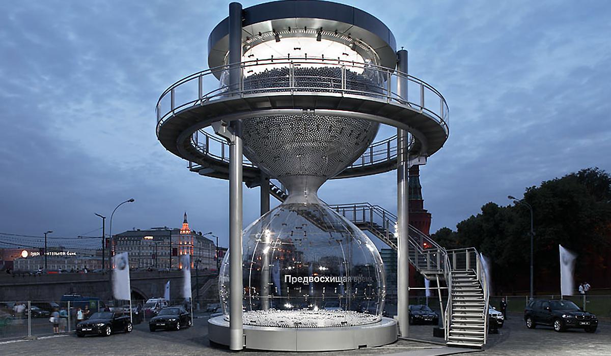 BMW Sanduhr Plexiglas sonderkonstruktion imagine structure Tragwerksplanung
