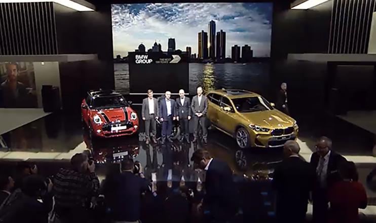 BMW Messestand Detroit 2018